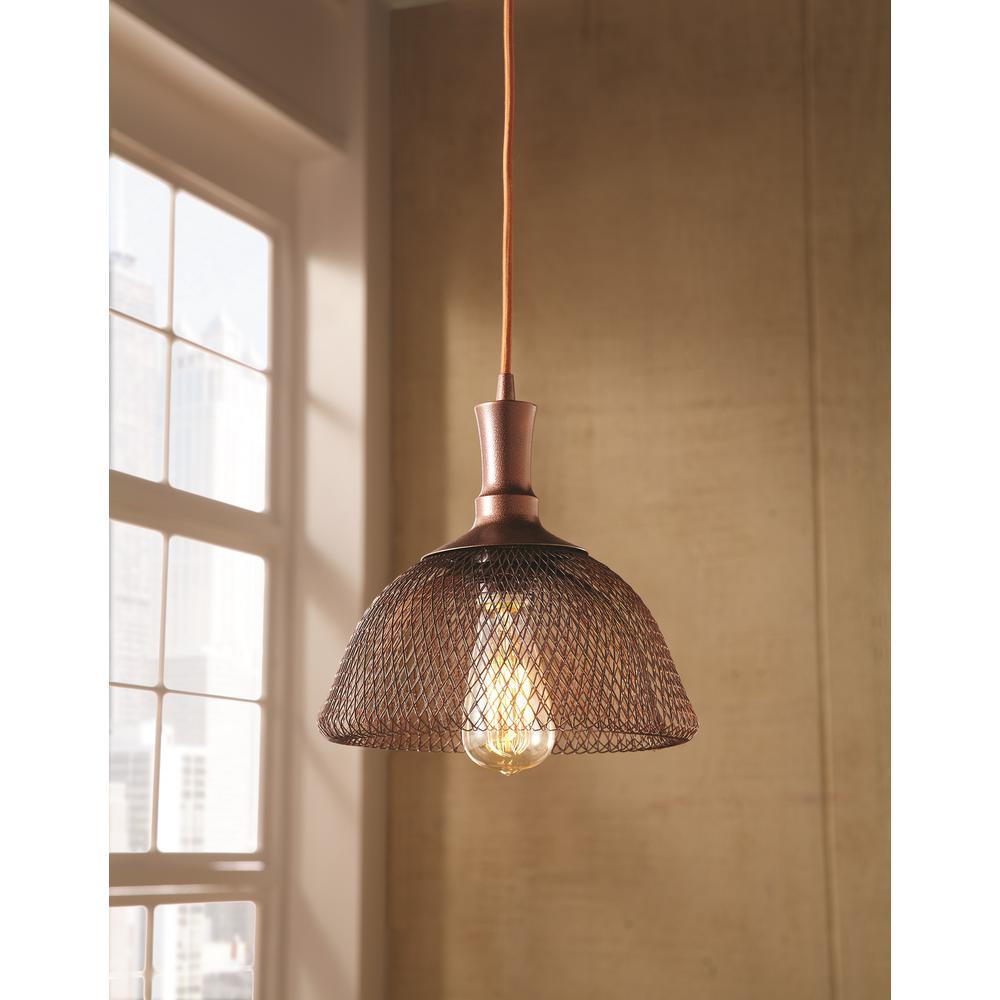 Home Decorators Collection 1-Light Double Frame Bronze Pendant