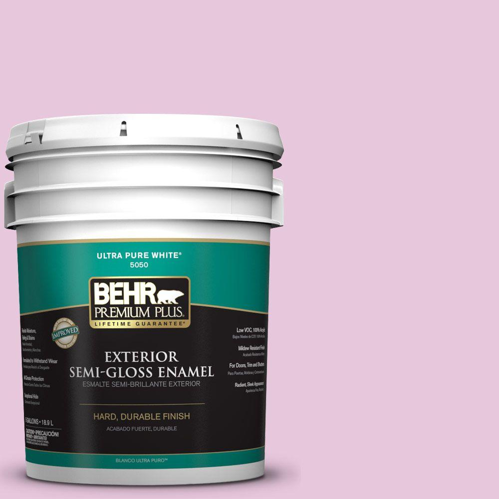5-gal. #M120-2 Kiss Good Night Semi-Gloss Enamel Exterior Paint