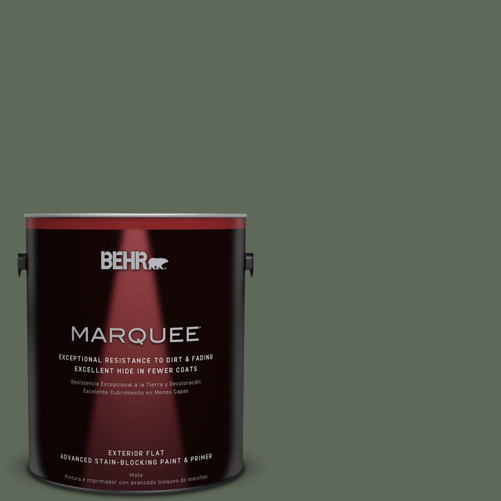 1 gal. #MQ6-15 Less Travelled Flat Exterior Paint