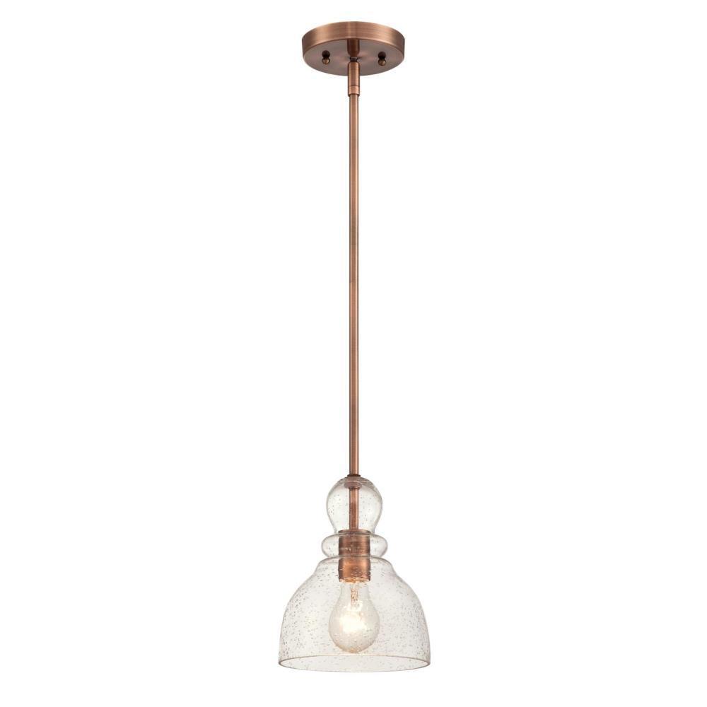 Westinghouse 1 Light Washed Copper Mini Pendant