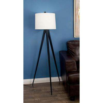 56 in. Modern Metal Tripod Floor Lamp