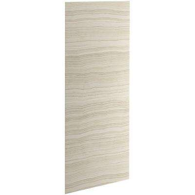 Choreograph 0.3125 in. x 32 in. x 96 in. 1-Piece Shower Wall Panel in VeinCut Biscuit for 96 in. Showers