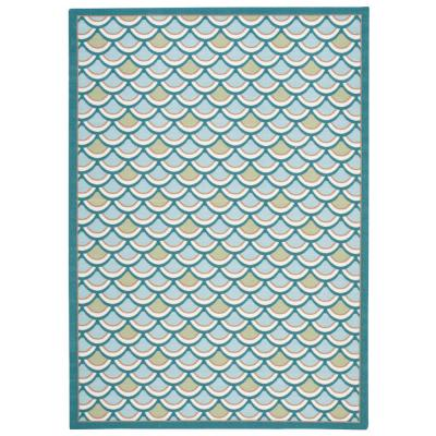 Sublime Light Blue 7 ft. x 10 ft. Indoor/Outdoor Rug