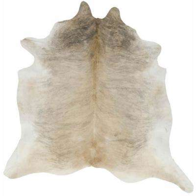 Cowhide Gueston Tan 5  ft. 0 in. x 6  ft. 6 in. Rectangular Area Rug