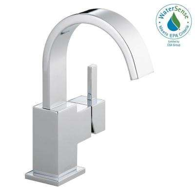 Vero Single Hole Single-Handle Bathroom Faucet with Metal Drain Assembly in Chrome