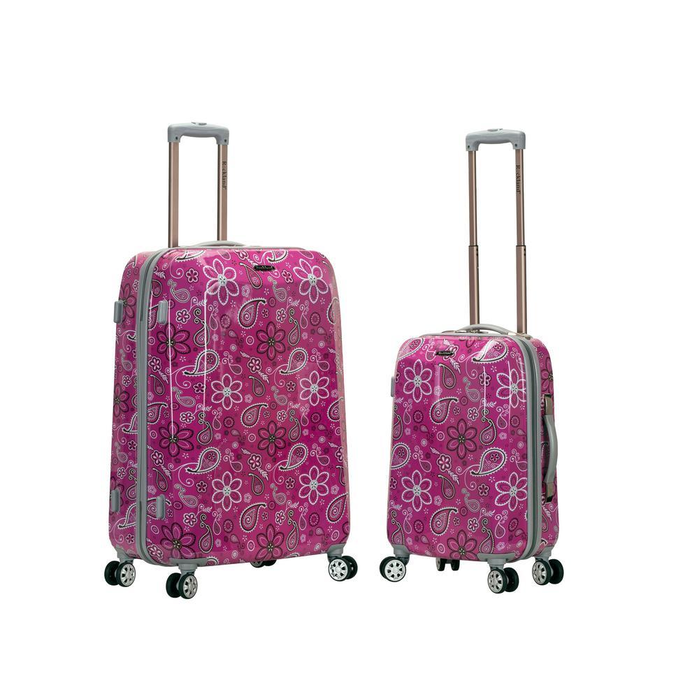 Rockland Traveler 2-Piece Hardside Luggage Set, Bandana