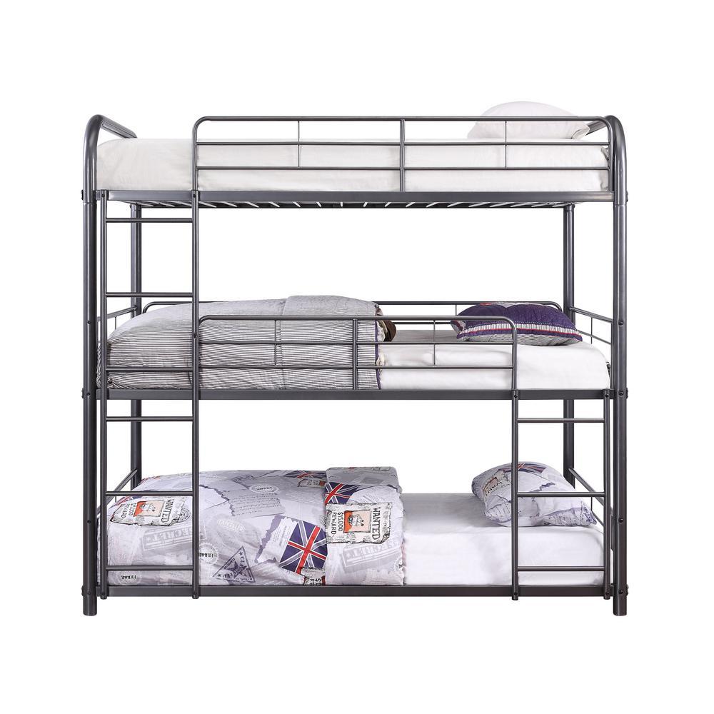 Cairo Gunmetal Triple Twin Bunk Bed