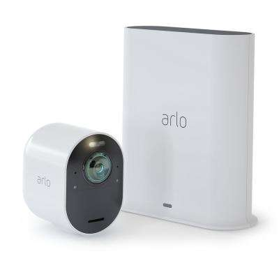 Ultra 4K Wire-Free Security 1 Camera System - White