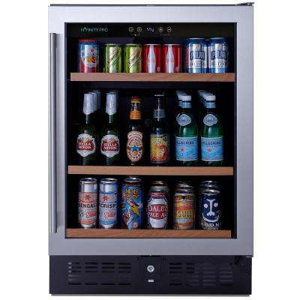 N'FINITY PRO S 23.75 in. 178 (oz.) Beverage Center Stainless Steel Door Can Cooler