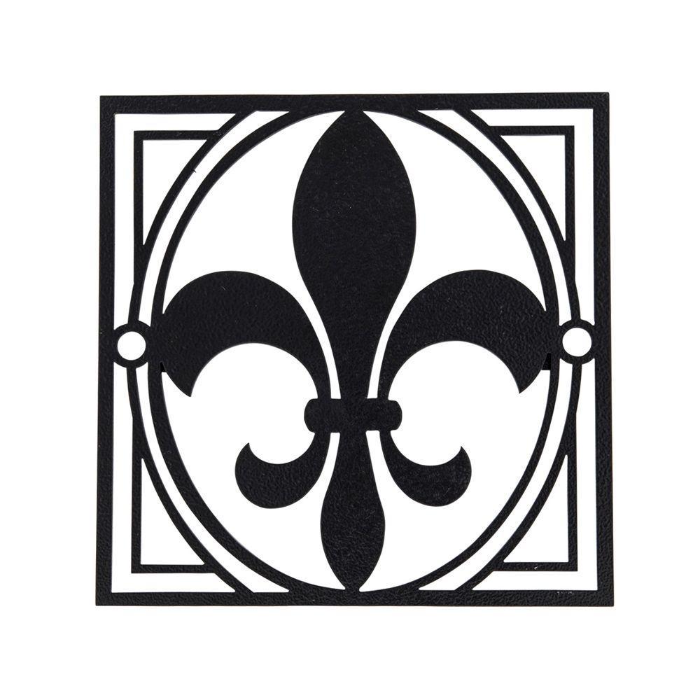 Fleur-De-Lis Single Decorative Fence Emblem Installs in Minutes