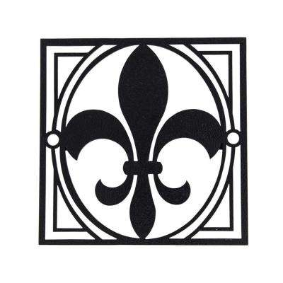 Fleur-De-Lis Single Decorative Fence Emblem Installs in Minutes