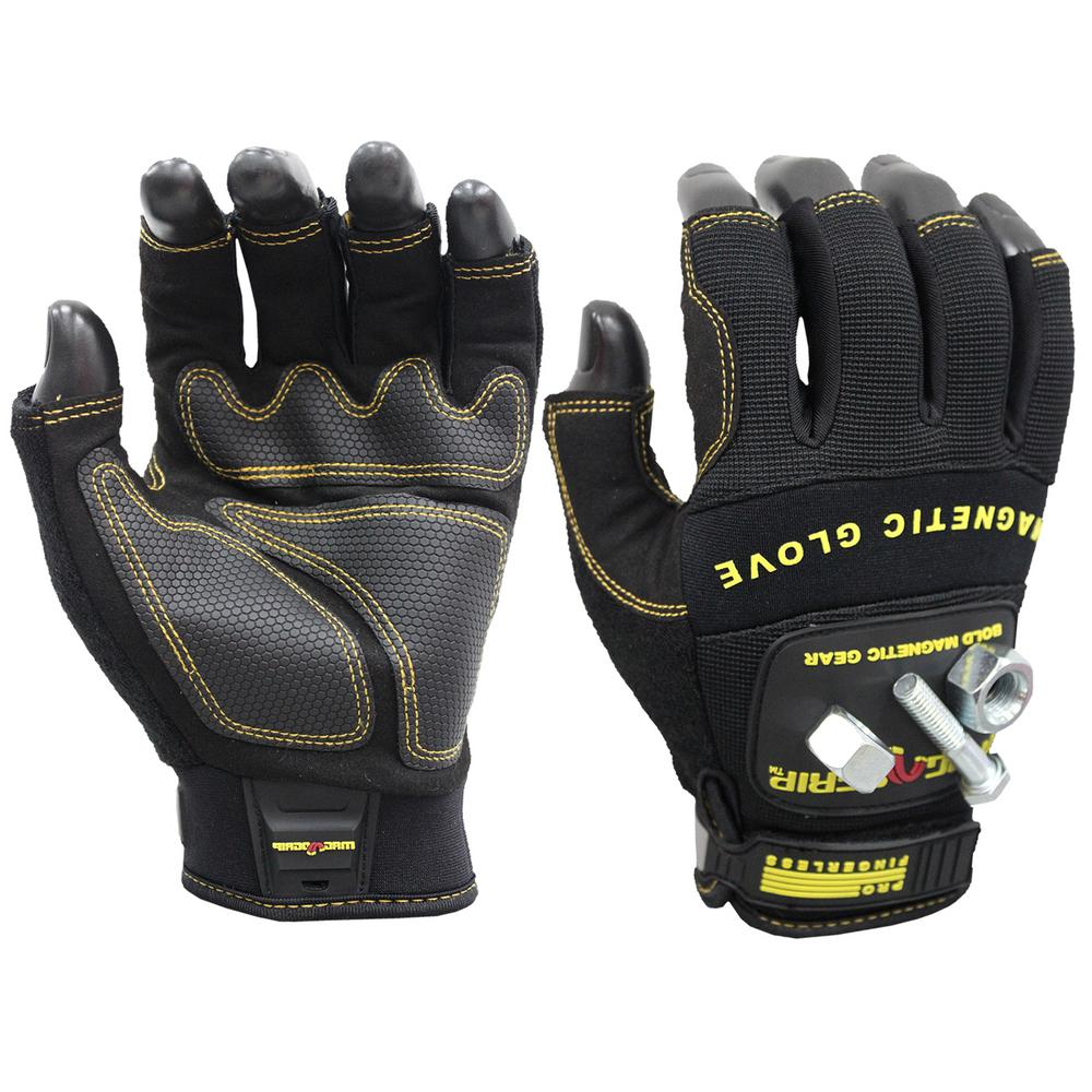 Pro Fingerless X-Large Magnetic Glove, Black