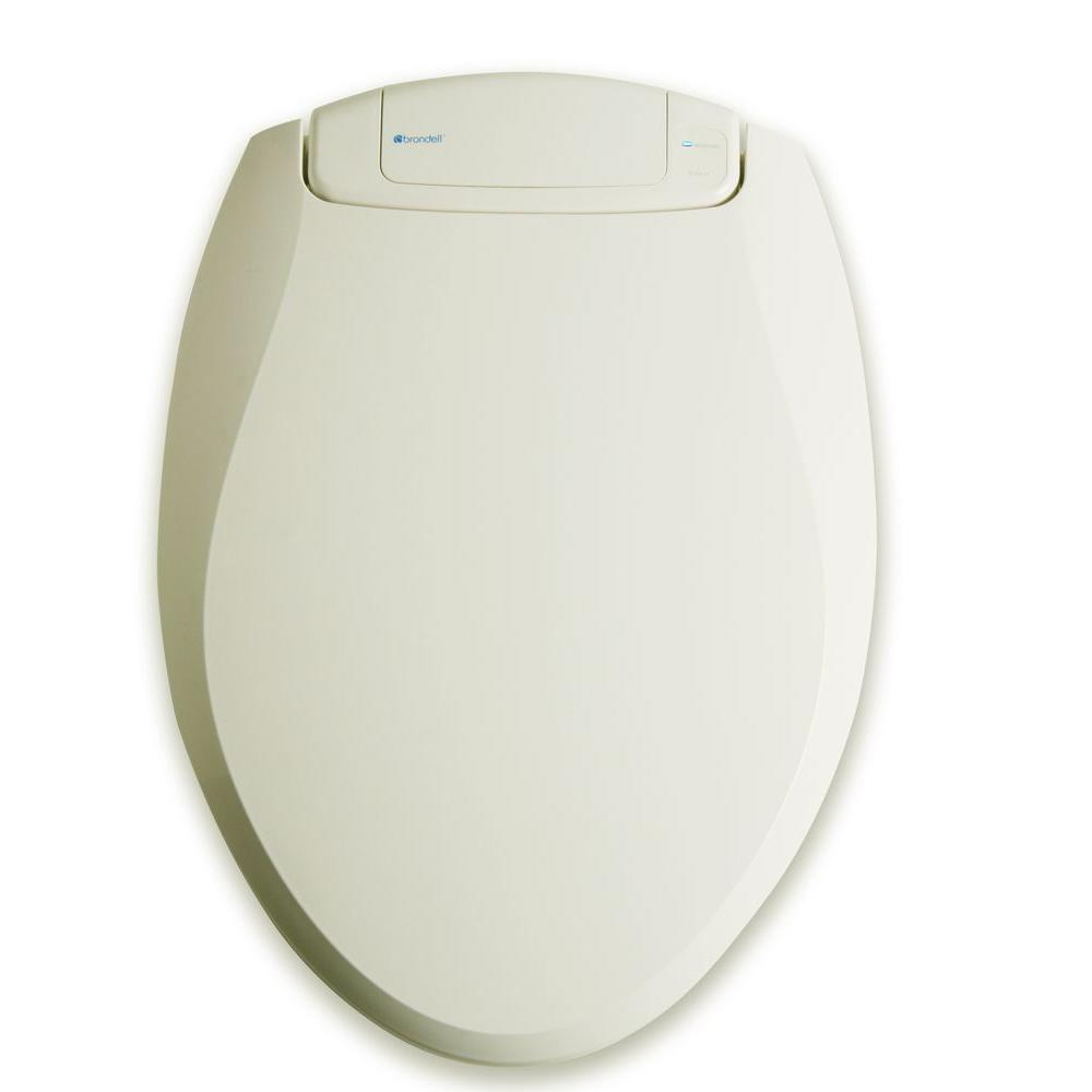 Brondell Breeza Deodorizing Elongated Closed Front Toilet Seat in Biscuit