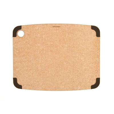 Non-Slip 15 in. x 11 in. Rectangular Wood Fiber Composite Cutting Surface