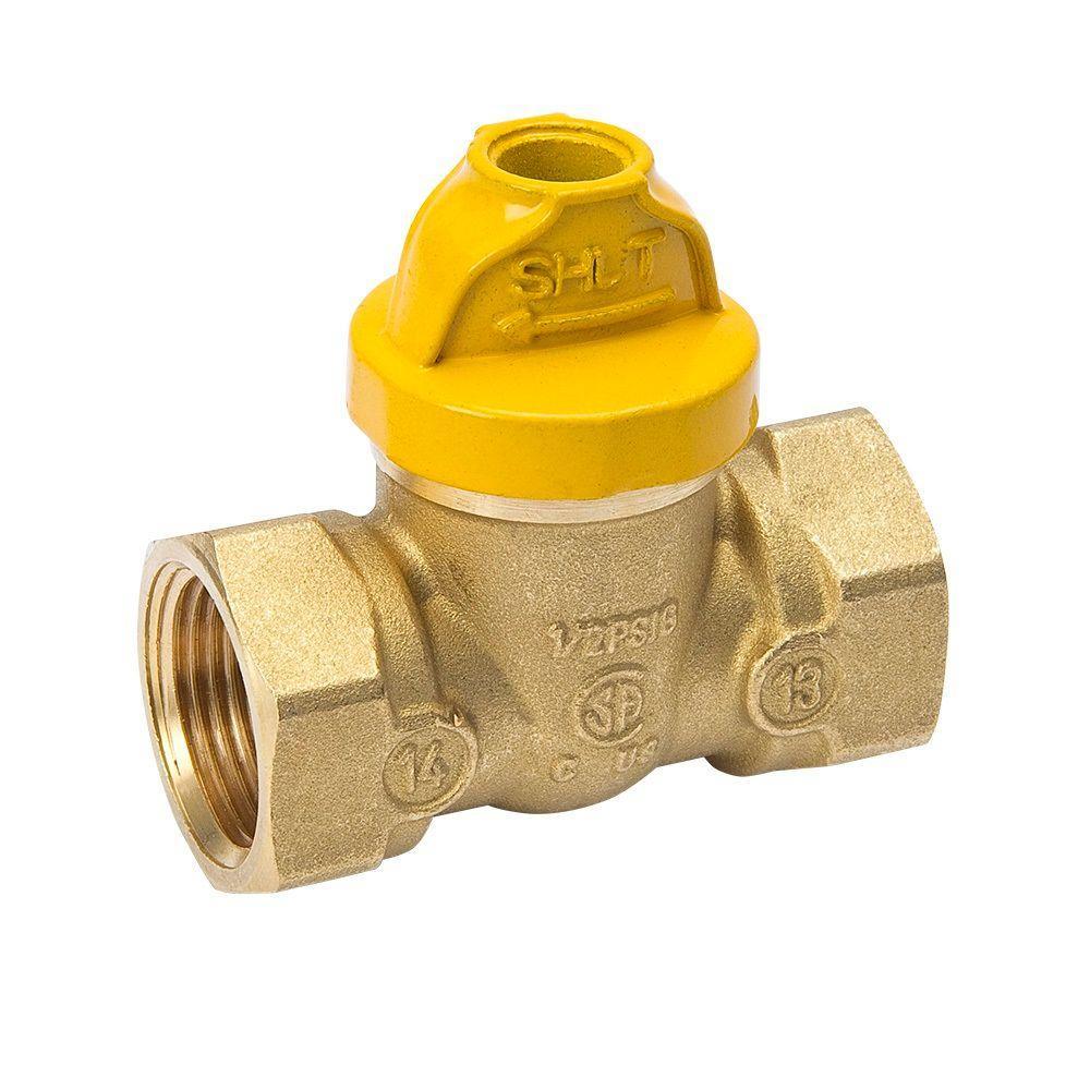 3/4 in. Brass SureOff Gas Ball Valve