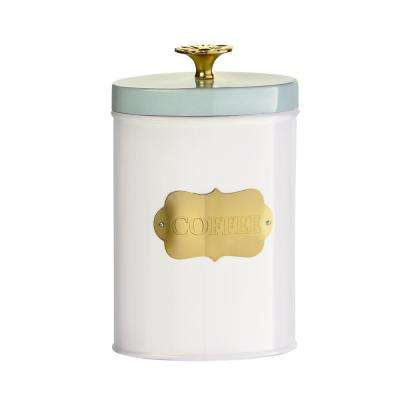 Colette Metal Coffee Canister with Gold Accents