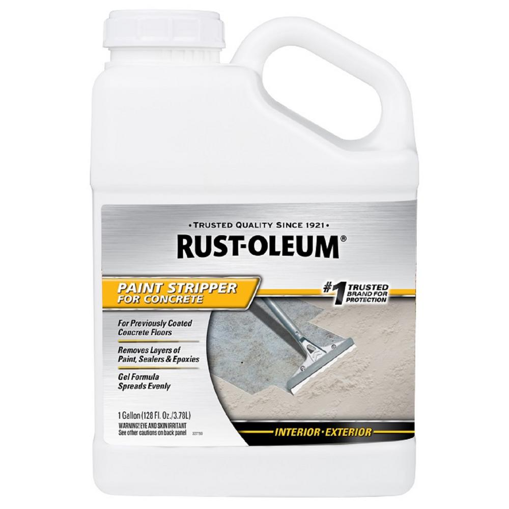 Rust Oleum 1 Gal Paint Stripper For Concrete 310984 The Home Depot