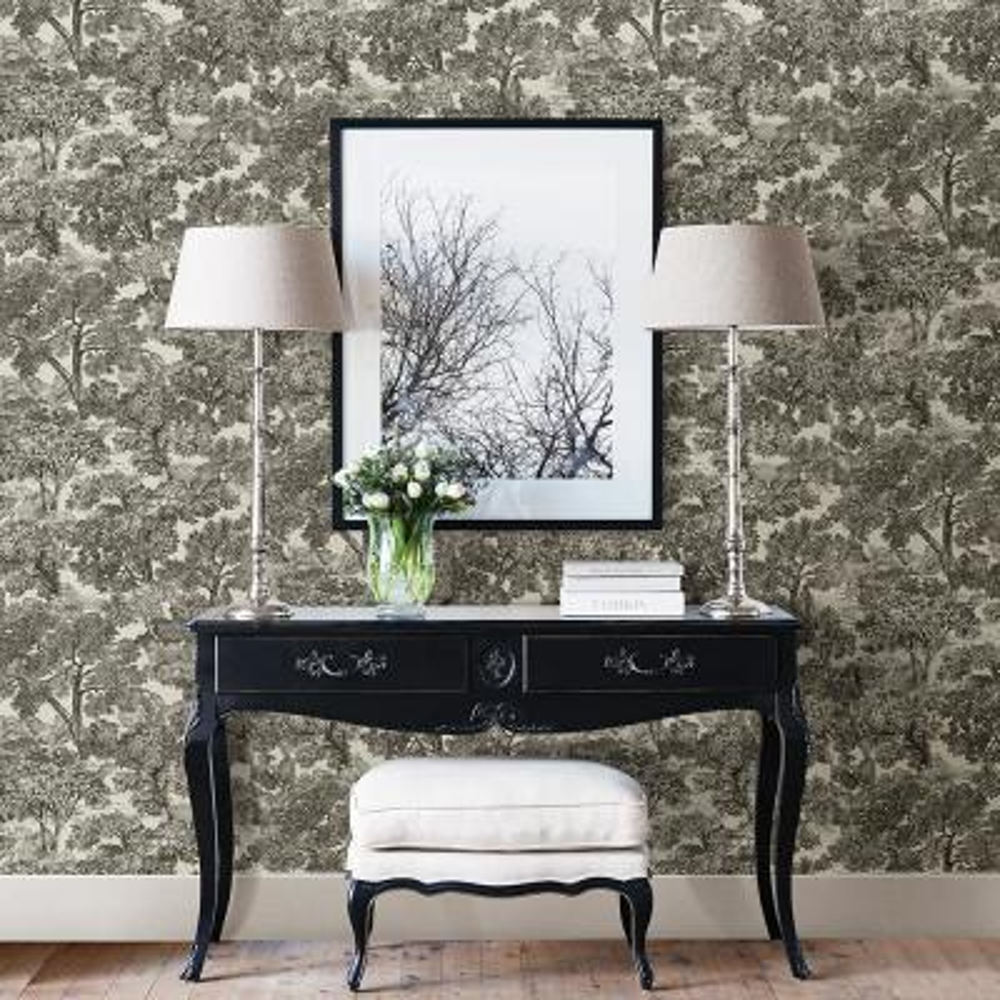 Blyth Black Toile Wallpaper Sample