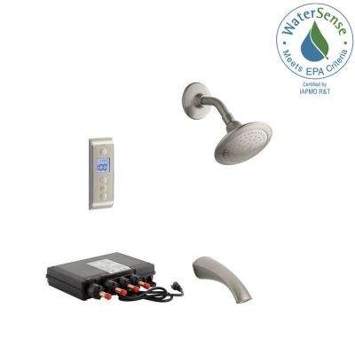 Mistos DTV Prompt 2.0 GPM Tub and Shower Set in Brushed Nickel (Valve Included)