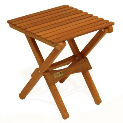 16 in. Brown Wood Portable Folding Accent Table