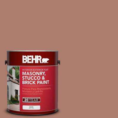 1 gal. #PPU2-11 Mars Red Flat Interior/Exterior Masonry, Stucco and Brick Paint