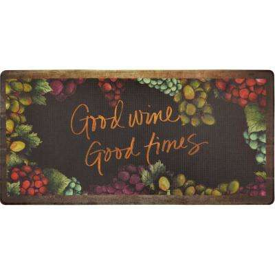 Cook N Comfort Multi Gather 20 in. x 39 in. Kitchen Mat