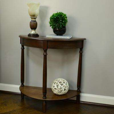 Simplicity Walnut Half Round Console Table. Walnut; Antique White; Eased ...