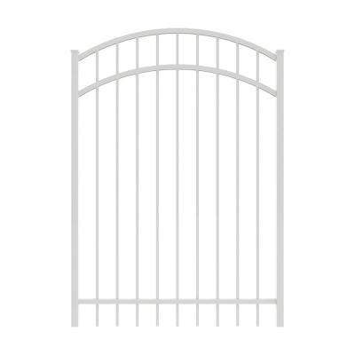 Vinings 4 ft. W x 5 ft. H White Aluminum Arched Pre-Assembled Fence Gate