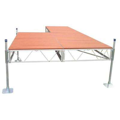 24 ft. Patio Dock with Brown Aluminum Decking