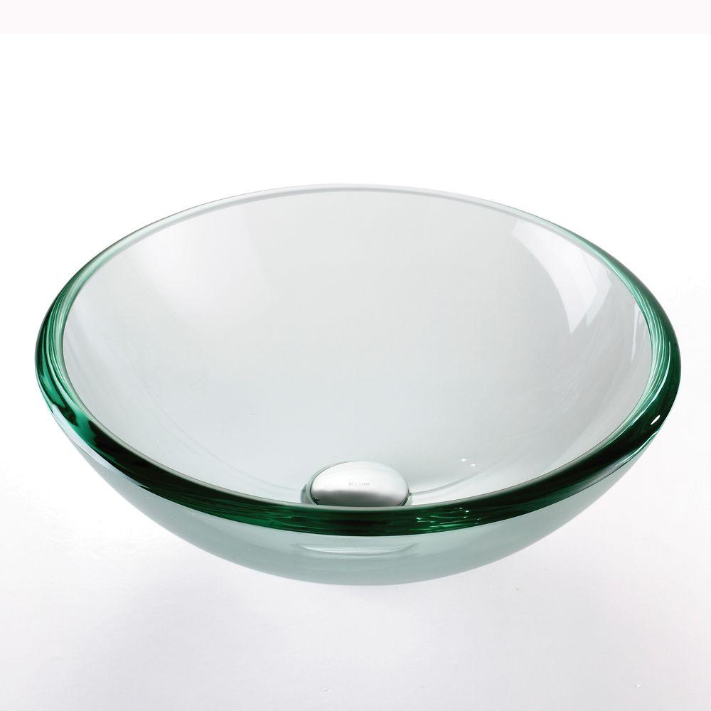 Superieur Glass Vessel Sink In Clear