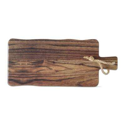 Barnwood 1-Piece Brown Melamine Cheese Serving Board