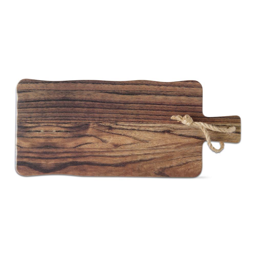Barnwood 1-Piece Brown Melamine Cheese Serving Board