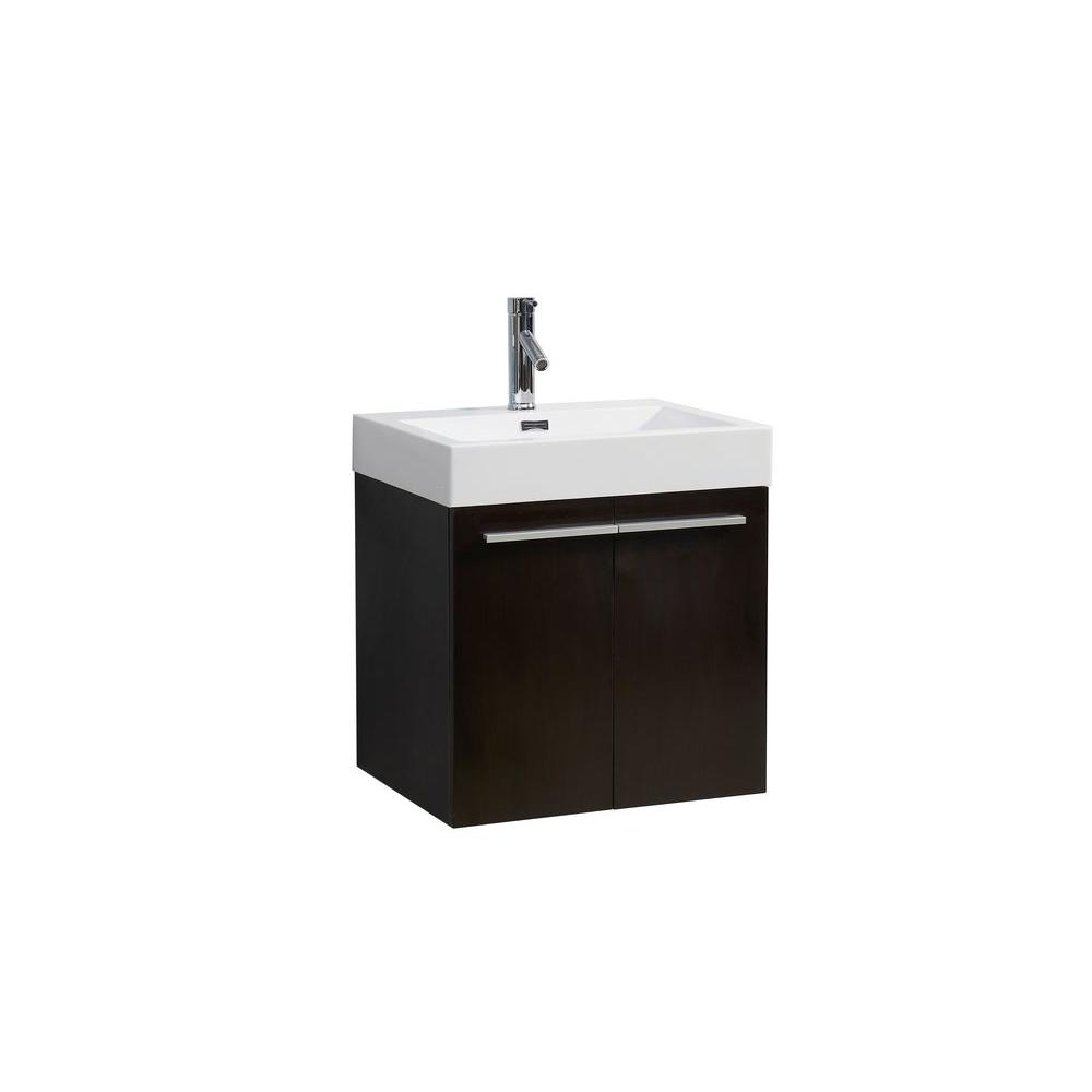 Midori 24 in. W Single Basin Bathroom Vanity in Wenge with
