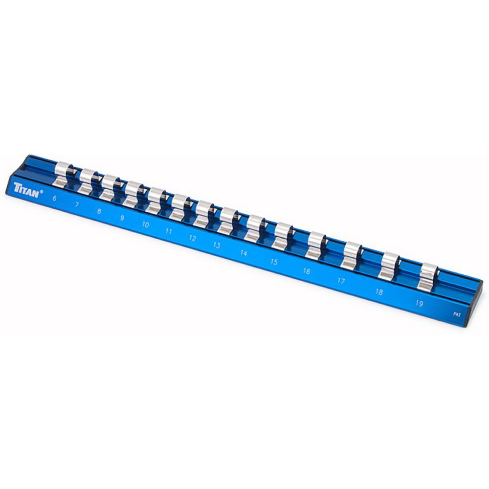 3/8 in. Drive Metric Magnetic Aluminum Socket Rail