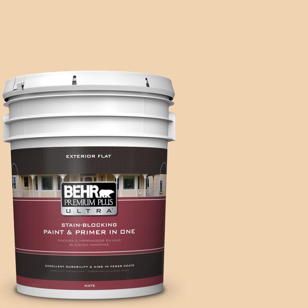 BEHR Premium Plus Ultra 5-gal. #M280-3 Champagne Wishes Flat Exterior Paint