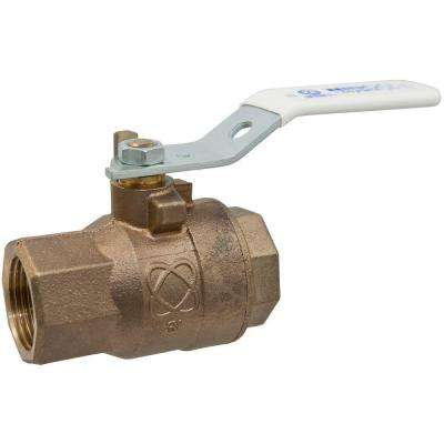 3/4 in. Lead Free Bronze FPT x FPT Pressure Rated Ball Valve
