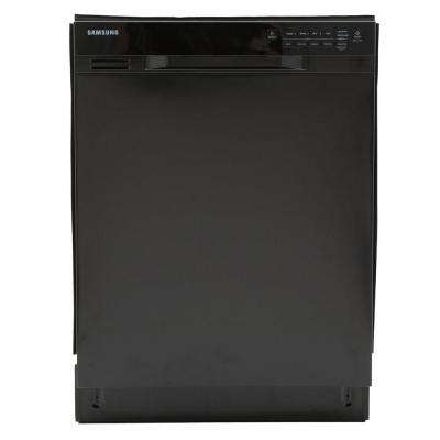 24 in. Front Control Dishwasher in Black with Stainless Steel Tub