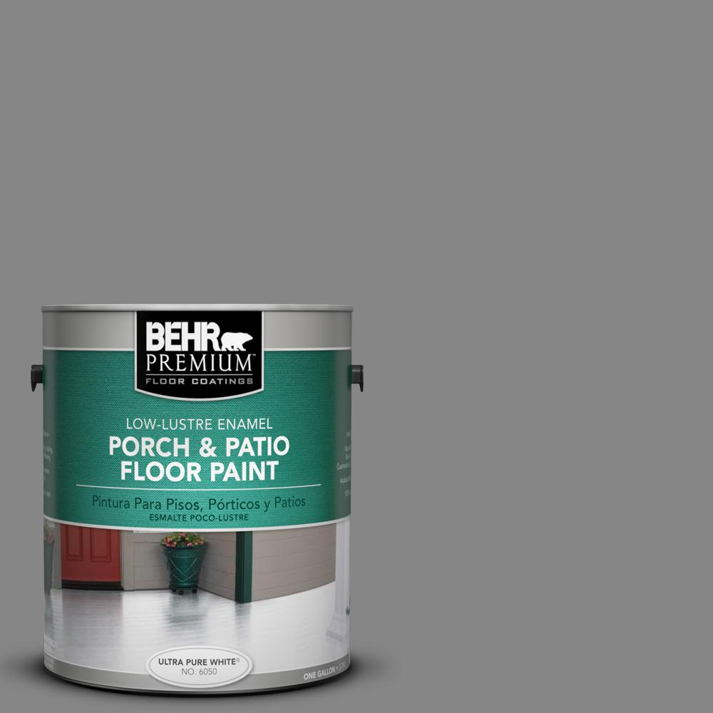 Delightful BEHR Premium 1 Gal. #PFC 63 Slate Gray Low Lustre Porch And