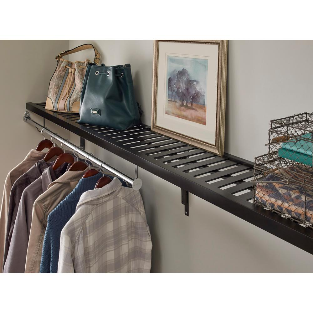 ClosetMaid 12 In X 72 Ventilated Espresso Wood Shelf Kit