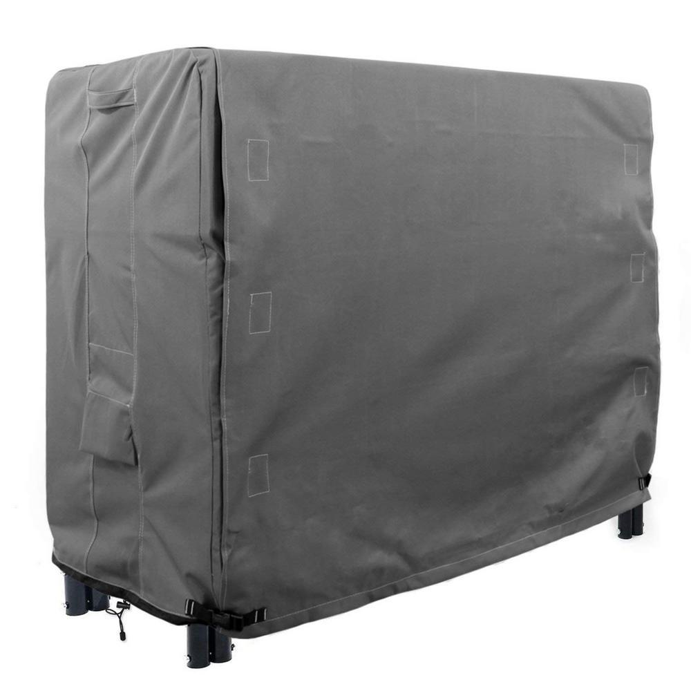 Titan Series 4 ft. Grey Log Rack  Heavy-Duty Protector Cover