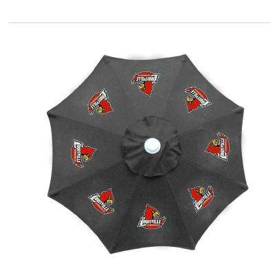 9 ft. University of Louisville Black Patio Umbrella
