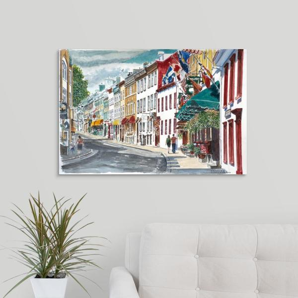 30 In X 20 In Quebec Old City Canada 2010 By Anthony Butera Canvas Wall Art