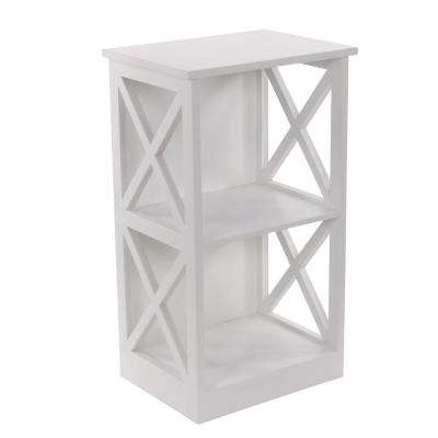 White Wooden Shelving Unit