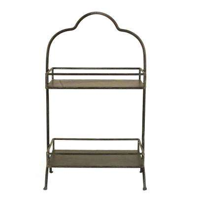 10-1/2 in. L x 17-3/4 in. H Metal 2-Tier Tray