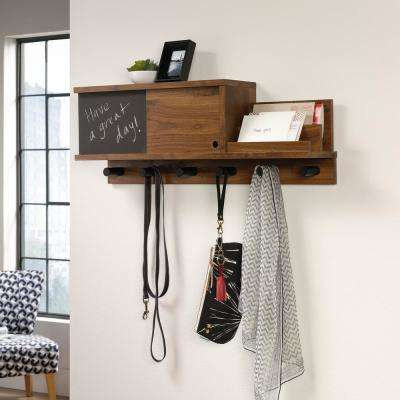 Harvey Park Grand Walnut Wall Organizer