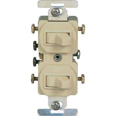 15 Amp Commercial Grade Toggle Duplex Switch, Ivory