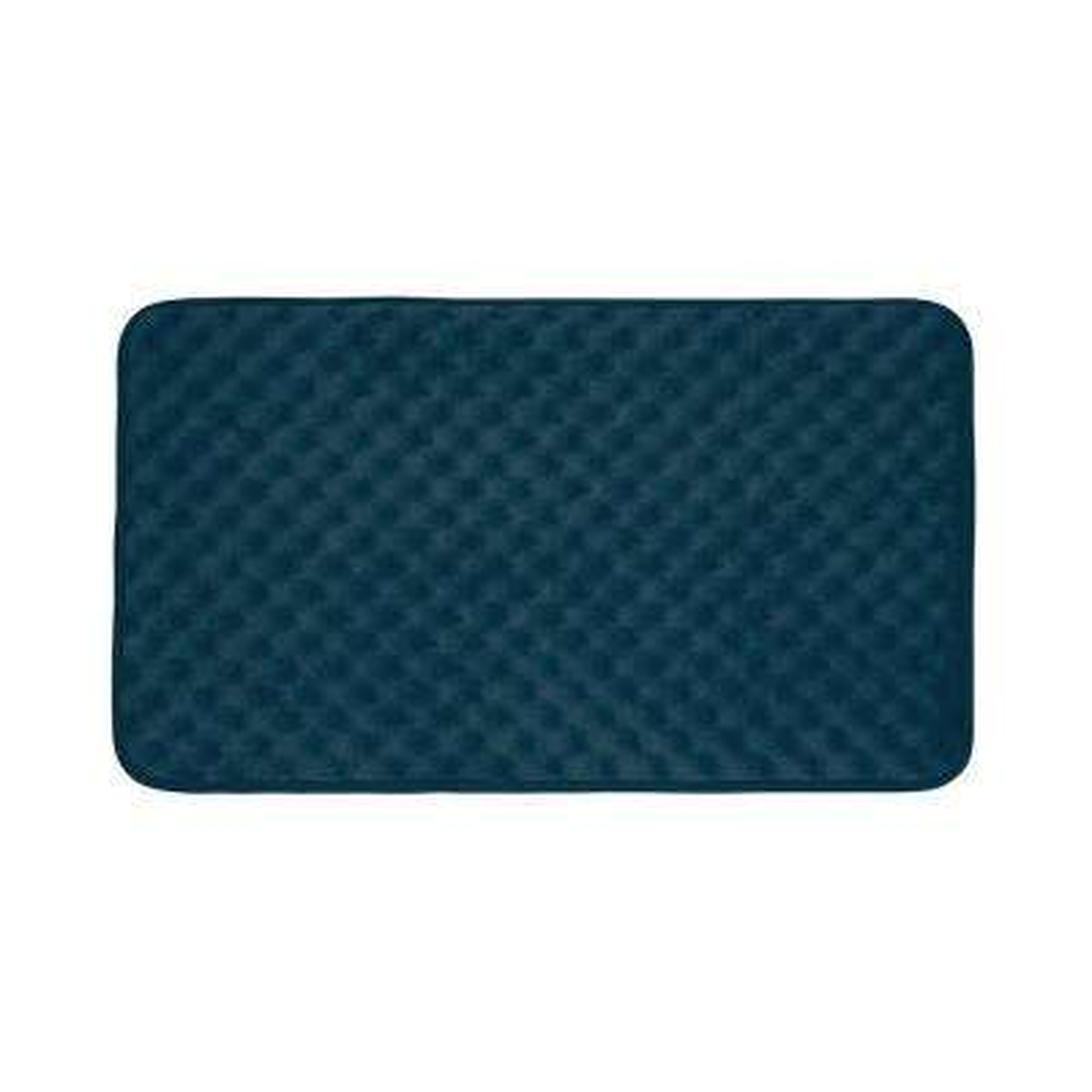Massage Dusty Blue 17 in. x 24 in. Memory Foam Bath Mat