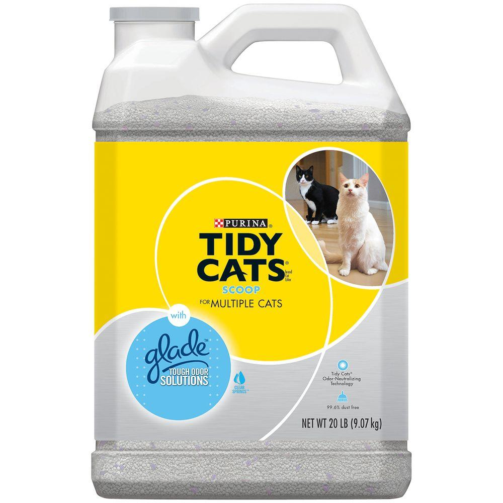 20 lb. Scoop Cat Litter with Glade Tough Odor Solutions Jug