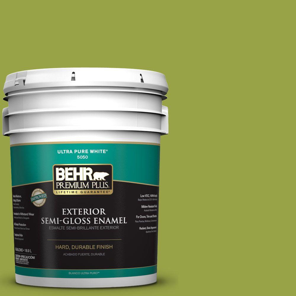 5-gal. #P360-6 Fresh Apple Semi-Gloss Enamel Exterior Paint