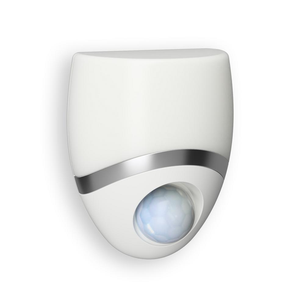 White Indoor Geometric Motion-Sensing LED Night Light